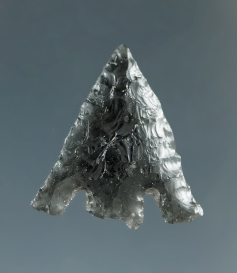 """3/4"""" Columbia Plateau made from Translucent Grey Obsidian, found near the Columbia River."""
