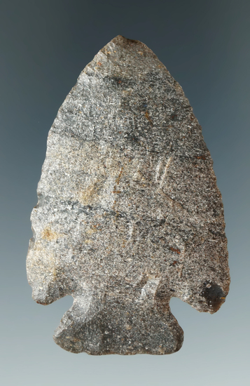 """2 1/2"""" Well flaked Archaic Cornernotch found in Highland Co., Ohio. Ex. Hooks collection."""