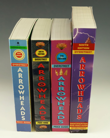 Group of 4 Overstreet Arrowheads price guides: 5th, 6th, 7th, and 9th editions.
