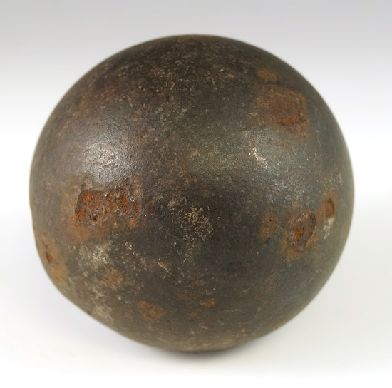 """2 1/4"""" Cannonball made from iron."""