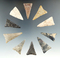 10 very well made Triangular points found in Ohio, largest is 1 7/8
