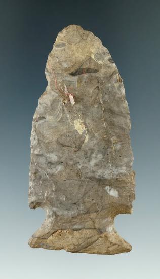 "2 13/16"" Vosburg made from Onondaga Flint found near Houghton, Allegheny Co., New York."