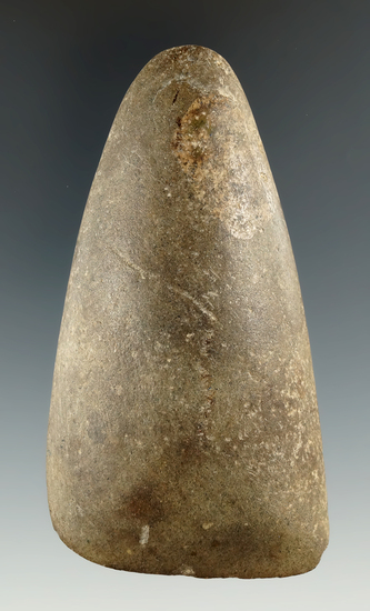 """3 3/4"""" Hardstone Gouge with great use wear and polish, found in Northeast Ohio."""