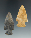 Pair of Hopewell points found in Ohio, largest is 2 5/16