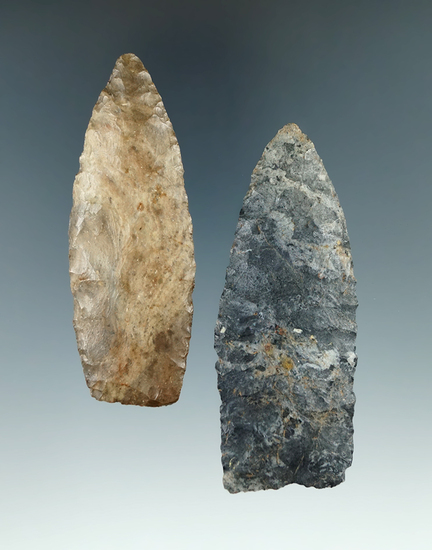 """3 1/4"""" Paleo Lanceolate made from Coshocton Flint, found in Knox Co., Ohio."""