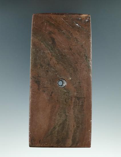 "4 1/4"" Hopewell Rectangular Pendant found in Northern Ohio. Ex. Ron Helman (#3360), Chris Helman."