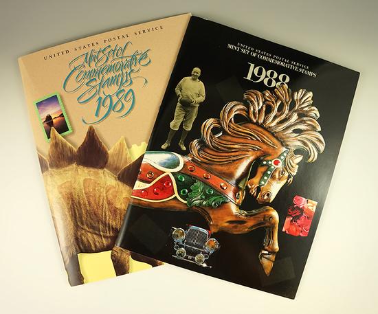 1988 & 1989 Postal Commemorative Mint Sets.