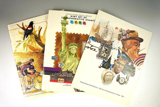 1982, 1985, & 1987 Postal Commemorative Mint Sets.