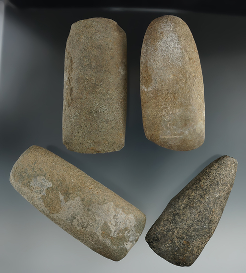 """Set of four field found Celts, largest is 5""""."""