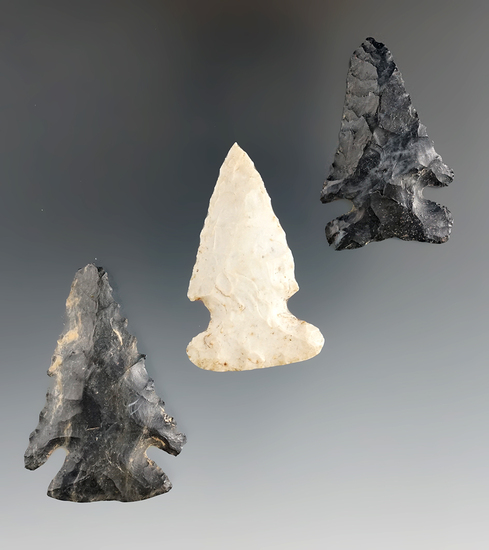 """Set of three Archaic Thebes Bevels, largest is 2 1/8""""."""