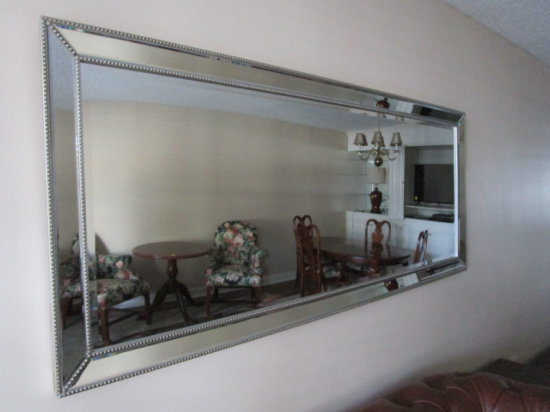 Rm 152 Large Beveled Mirror with Beveled Mirrored Frame