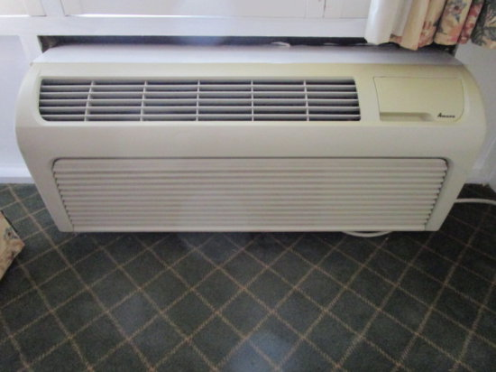 Rm 174 Amana Air Conditioning/Heat Wall Unit (Turn Dial Controls)