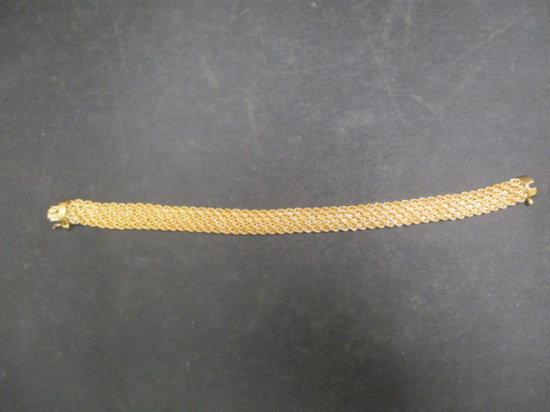 """14k Rose Gold Bracelet- Almost 1/2"""" Wide!"""
