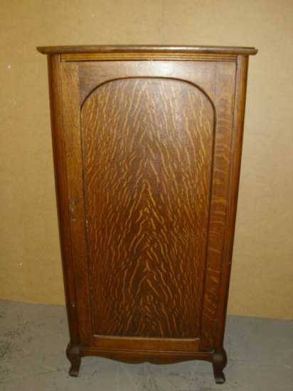 "Tiger Oak Childs Wardrobe -Very Hard to Find - approx.  26""W x 52""H x 22""D - See all photos"