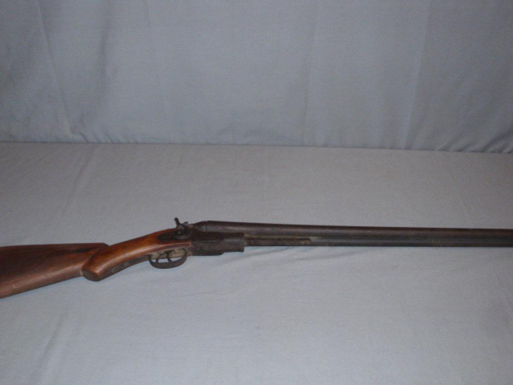 Antique Double Barrel Shotgun - Wall Hanger or Parts Gun