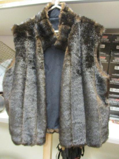 Isabella's Journey Espresso Faux Fur Reversible Vest