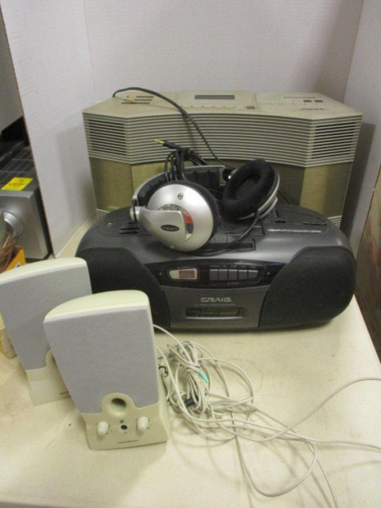Bose AW-1 Acoustic Wave Cassette/AM/FM System, Craig CD/Radio/Cassette Boom Box,