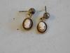 120/12Kt Gold Cameo Pierced Earrings