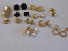 Gold Tine Clip On Earrings