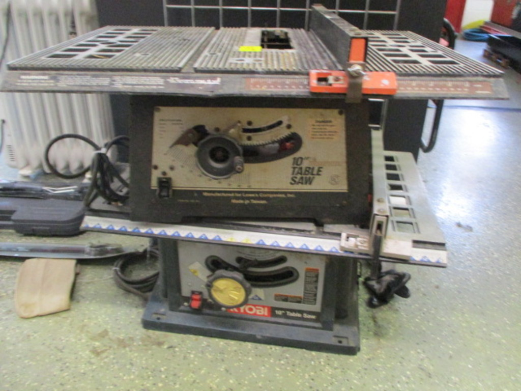 "Lowes 10"" Table Saw and Ryobi 10"" Table Saw"