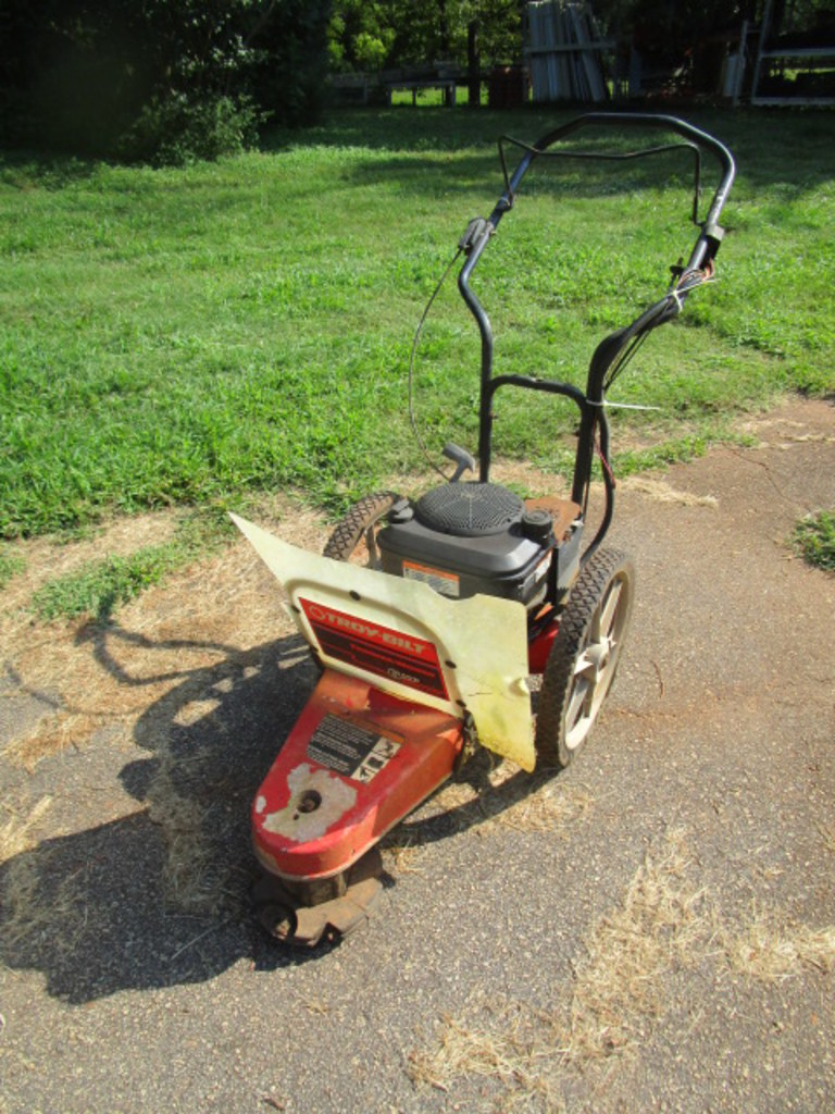 Lot: Troy Bilt Walk Behind 6 HP Trimmer Mower with Electric