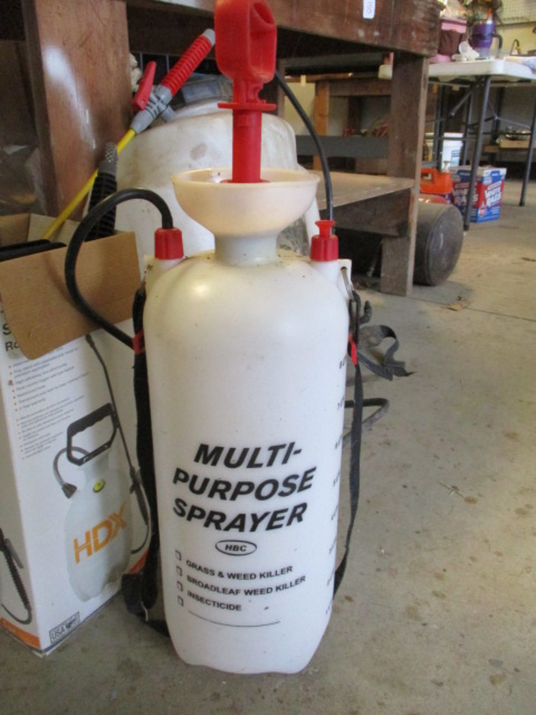 Lot: Stanley Backpack Sprayer, 2 Gallon Sprayer and 1 Gallon