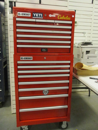 Us General 8 Drawer Locking Tool Cabinet And Toolbox With Keys
