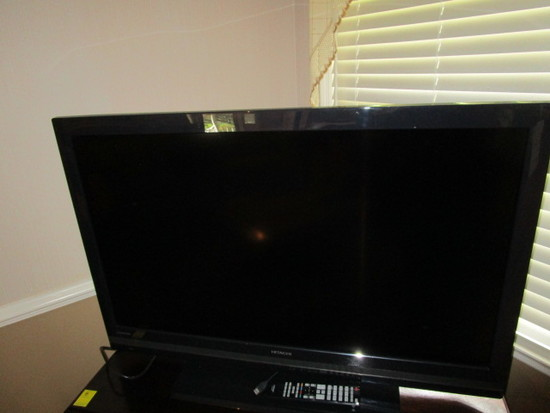 """Hitachi 42"""" Flat Screen Television with Remote"""