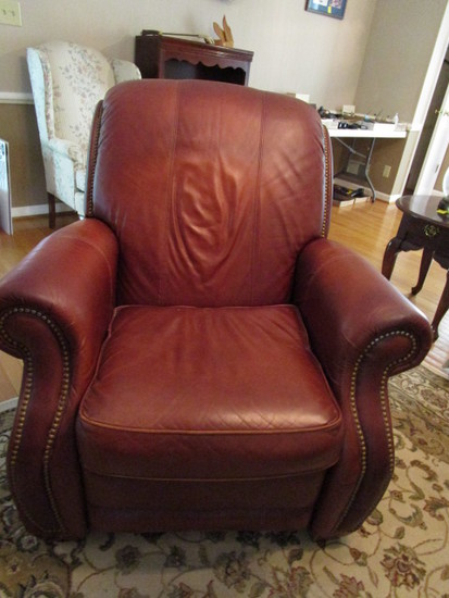 Leather La-Z-Boy Recliner with Nail Head Accents