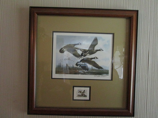 Framed/Signed/Numbered  1984 First of State Oregon Waterfowl Stamp Print