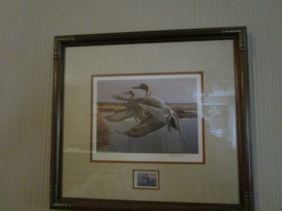Framed/Signed/Numbered  1987 North Carolina Duck  Stamp Print