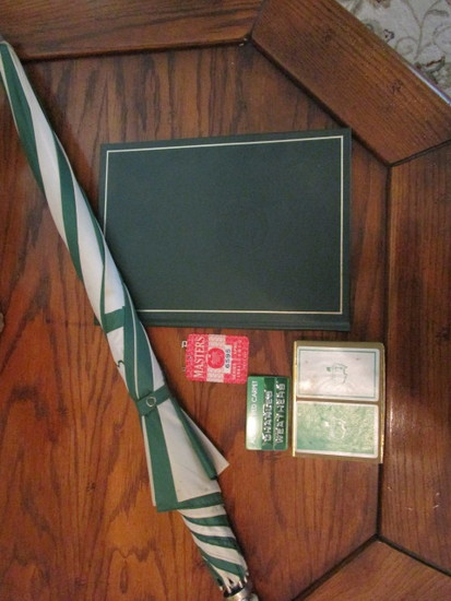 1981 Augusta National Masters Badge, Augusta Red Carpet Badge, Playing Cards,