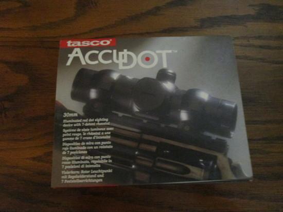 Tasco AccuDot 30mm Illuminated Red Dot Sighting Device in Original Box
