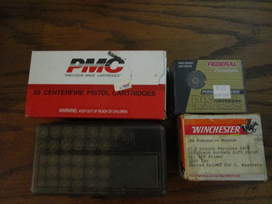 20 Count Federal Premium 45mm Cartridges, PMC and Winchester 44 Mag