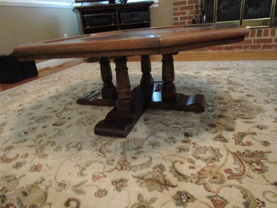 Octagonal Wood Coffee Table