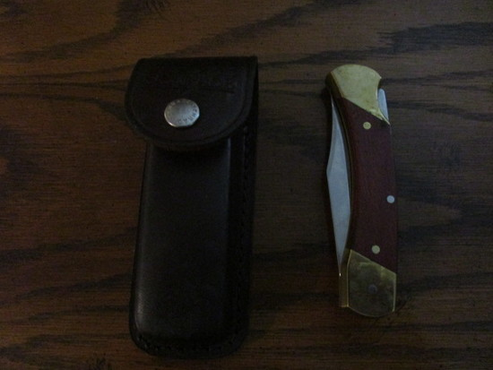 Schrade Uncle Henry LB7 Knife in Leather Sheath