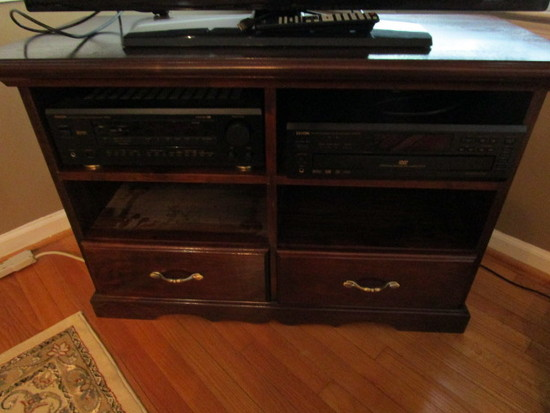 Custom Made Wood Multi-Purpose Stand/Cabinet