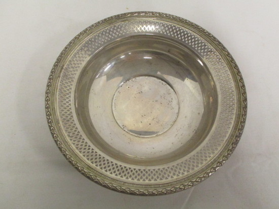 Fisher Sterling Silver Lattice Edge Bowl