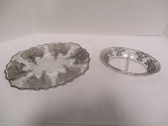 Silver Over Divided Dish and Plate
