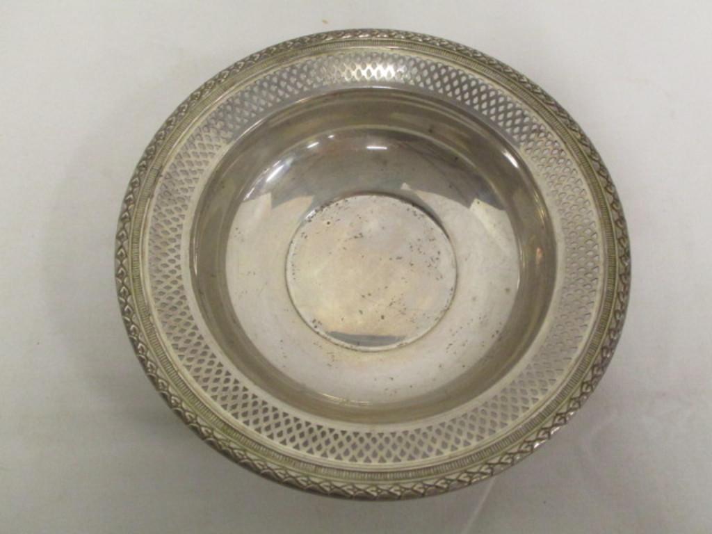Fisher Sterling Silver Lattice Edge Bowl