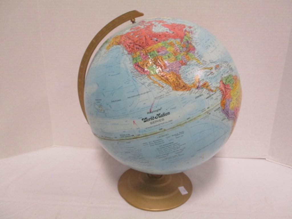 "Vintage 12"" Reploge World Nation Series Globe"