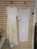 Two Vintage Wedding Dresses