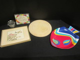 Wood Bread Plate, Colorful Plastic Fish Serving Tray, Clover Leaf Placemats, etc.