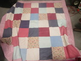 Hand Sewn Patchwork Quilt with Some Hand Stitching