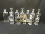 12 Clear Glass Pharmacy Decanters