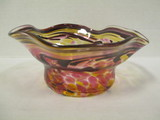 Signed Loretta Eby Art Glass Bowl