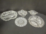 Clear Glass Serving Plates and Bowls
