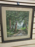 Framed Artwork by CG Davidson of Country Road