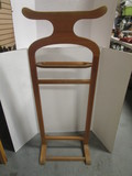 Light Wood Valet Stand