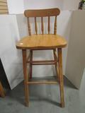 Light Wood Bar Chair